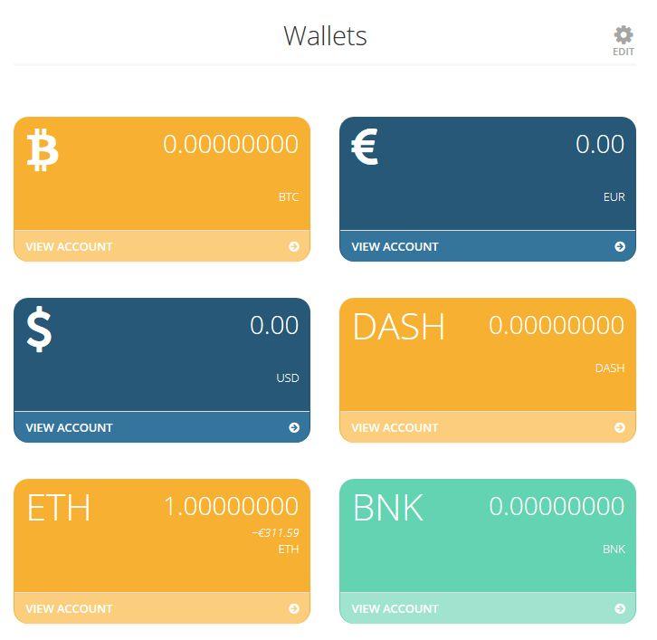 SpectroCoin piniginės
