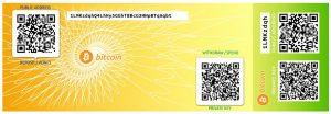 Paper bitcoin wallet