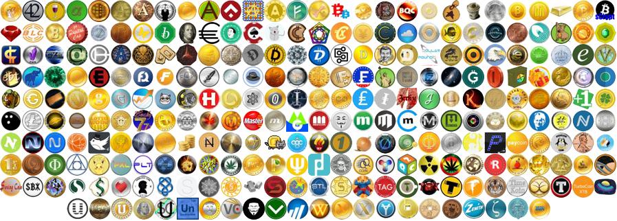 Alternatyvių kriptovaliutų gausa